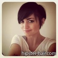 short brown pixie hair (from Hipster-Hair.com...lol)