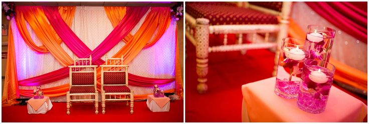 Engagement Ceremony for more ~dkreatephotography.com~    #orange #pink #decor #candles #flowers #petals #Indiancouple |Clinton manor banquets | #NewJersey #Indianweddingphotographer | Florida Indian wedding photographer | Jacksonville | Jacksonville Indian Wedding Photographer