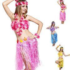 6Pcs Womens Lady HAWAIIAN Luau Costume Hawaii Beach Party Hula Dance Fancy Dress