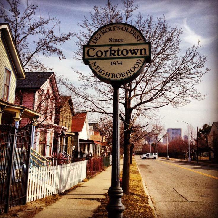 Corktown is the oldest neighborhood in Detroit, Michigan, although the city of Detroit is twice as old. Current boundaries include I-75 to the north, the Lodge Freeway to the east, Bagley and Porter streets to the south, and Rosa Parks Boulevard (12th Street) to the west.The neighborhood was listed on the National Register of Historic Places in 1978. Many Irish from County Cork who fled the Potato Famine settled here, and the neighborhood became known as Corktown.