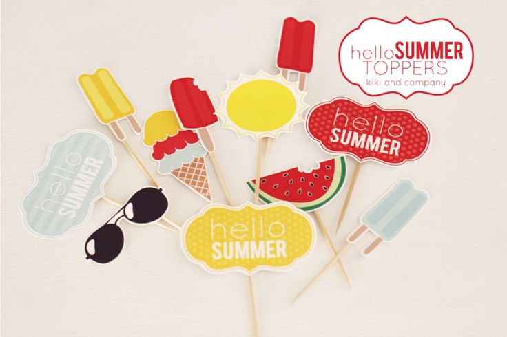 Hello Summer Toppers by Kiki and Company for iheartnaptime.com