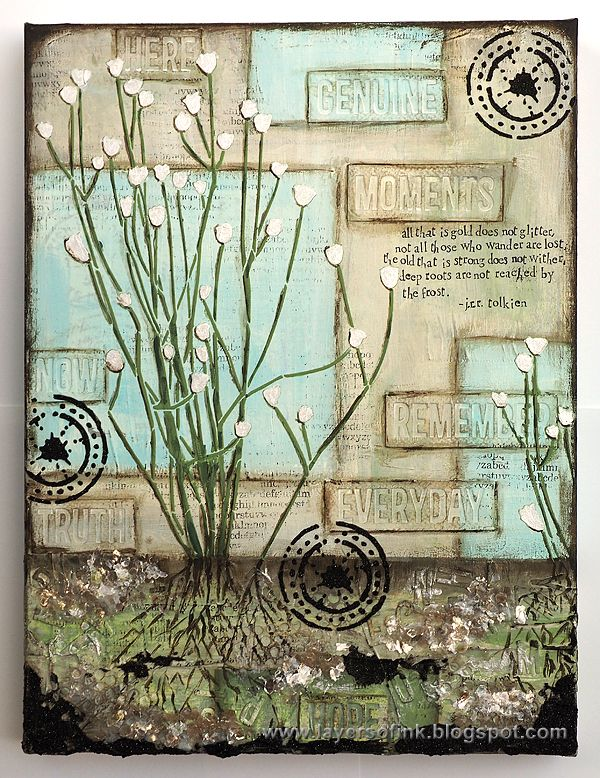 Layers of ink - Roots Canvas Tutorial by Anna-Karin