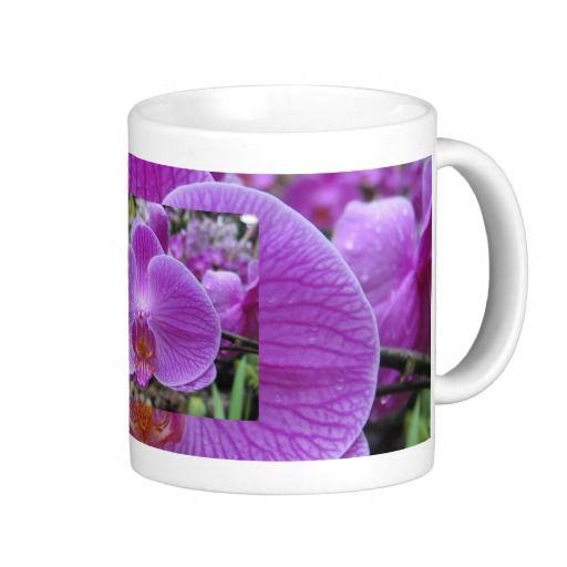 Deeply Veined Purple Orchid Mug