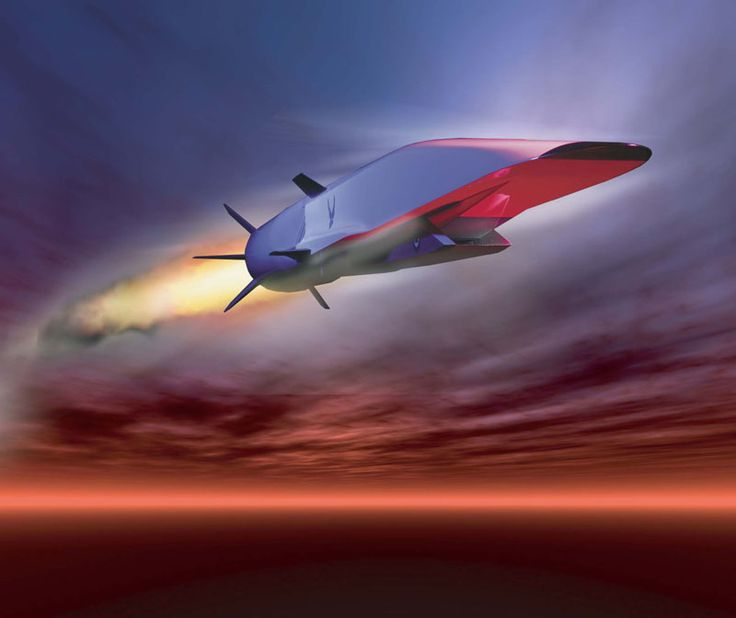 This Air Force illustration depicts the X-51A Waverider scramjet vehicle during hypersonic flight during its May 26, 2010 test. Powered by a Pratt & Whitney Rocketdyne SJY61 scramjet engine, it is designed to ride on its own shockwave and accelerate to about Mach 6.