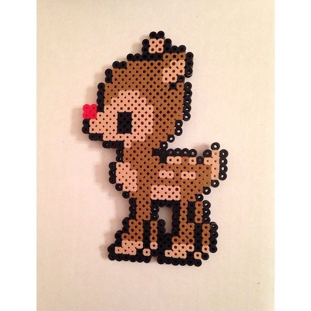 Rudolph Christmas perler beads by kg.crafts
