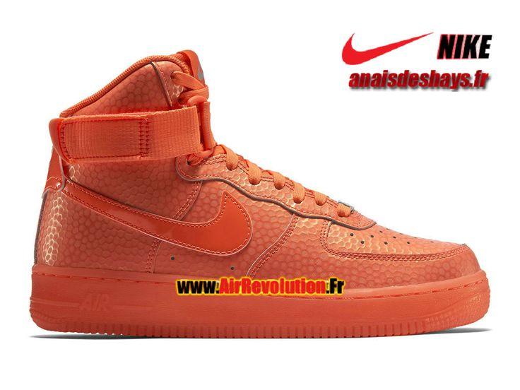 Boutique Officiel Nike Wmns Air Force 1 Hi Premium Femme/Enfant Lave piquant/Lave piquant 654440-800