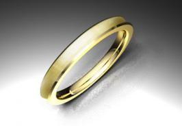 Alianza de oro amarillo de 18K modelo Concava - Alianzas de oro - Clemente Navarro by LK  superficie mate seda 2,9mm #bodas #alianzas #novia | cnavarro.com