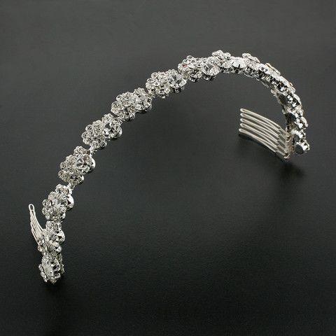 Bridal Headband with Crystal Clusters | GIAVAN