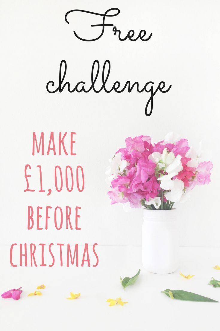 Free make £1,000 for Christmas challenge