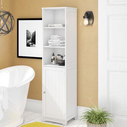 40 X 160cm Free Standing Tall Bathroom Cabinet Symple Stuff In 2021 Bathroom Tall Cabinet Simply Bathrooms Bathroom Standing Cabinet