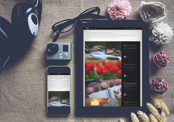 Free Styled iPhone & iPad mockup to showcase a startup, website template, application