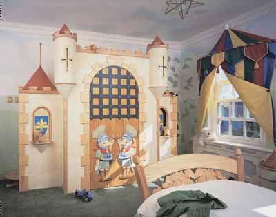 Castle toddler room decor