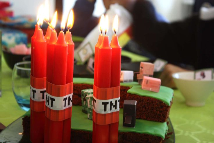Anniversaire Minecraft - Creepers, pixels et TNT ⋆ Guide du Parent Galactique