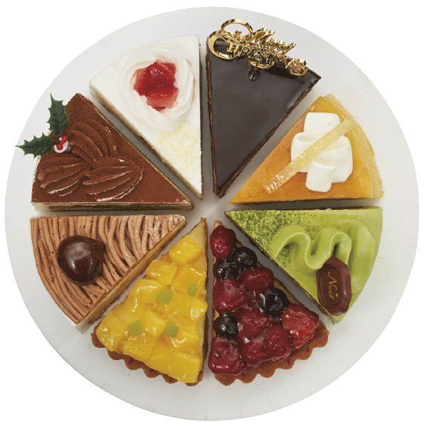 聖夜の華やぎ 8種のアソートケーキ ちょっと贅沢なファミリークリスマスにぴったり 人気の苺ケーキから大人向けのタルトまで 個性豊かな味わいを揃えました ケーキ クリスマスケーキ クリスマスパーティーメニュー