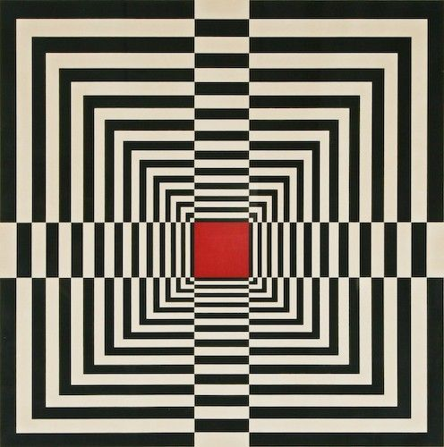 Edna Andrade (1917-2008)  was an American abstract artist & an early Op Artist, had a significant influence on the Philadelphia art scene for over forty years. / Sacred Geometry <3