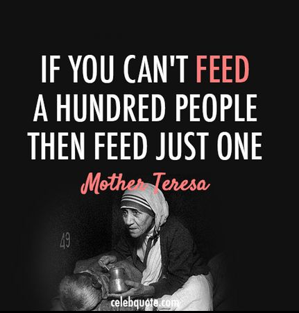 Wise words from Mother Teresa