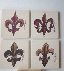 Fleur de Lis Sandstone Coasters - Original Art Coasters - Drink Coasters - New Orleans Art Coasters - Wedding Gift - Home Decor - Home Gift by SerenityoftheSouth on Etsy #fleurdelis #sandstone #coasters