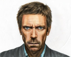 Hugh Laurie color by ~Patmol made with Letraset Markers