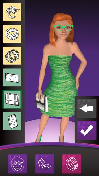 Crayola My Virtual Fashion Show ($0.00 with iAP option of 3.99 to unlock) lets you create fabulous fashions and bring them to life. Draw dazzling designs on the fashion templates and take a picture to bring your fashions to life! Watch your designs rock the runway in a virtual fashion show! A printer is required to print out fashion templates.