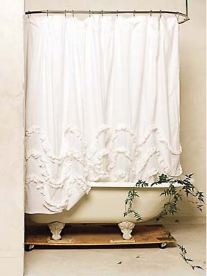 Luxury Shabby Chic Shower curtain with claw foot tub