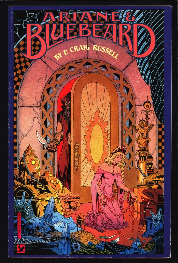 Ariane & Bluebeard, Maurice Maeterlinck,Paul Dukas, fairy tale, opera, Comic Book adapted by P. Craig Russell,1989 eclipse comics