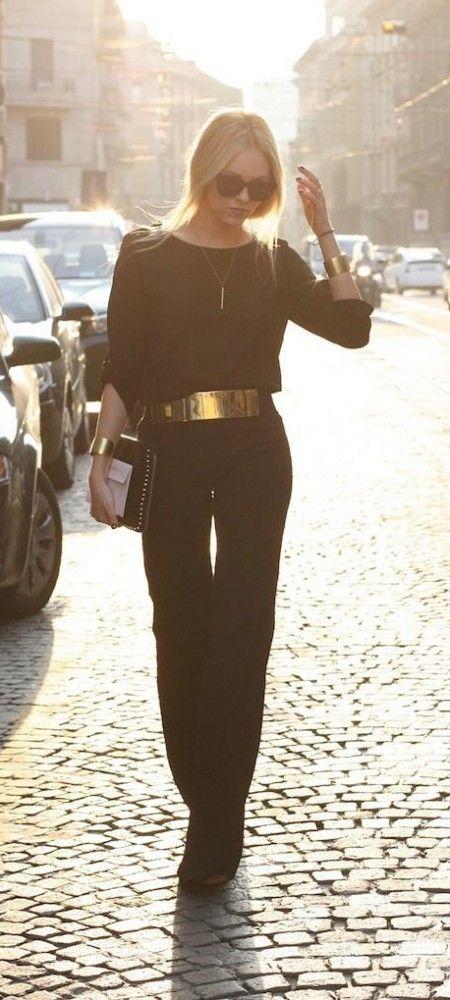 Si no sabes cómo vestir en Navidad piensa en la eterna pareja: dorado y negro