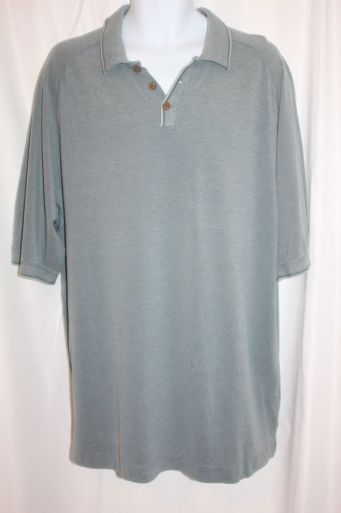 fd228b59 Tommy Bahama Men's Polo Shirt Blue Gray Short Sleeve Cotton size XL Golf  Shirt #TommyBahama #PoloRugby