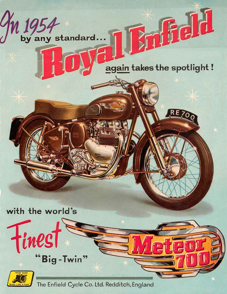 Vintage Brochure: Royal Enfield Meteor 700 1954