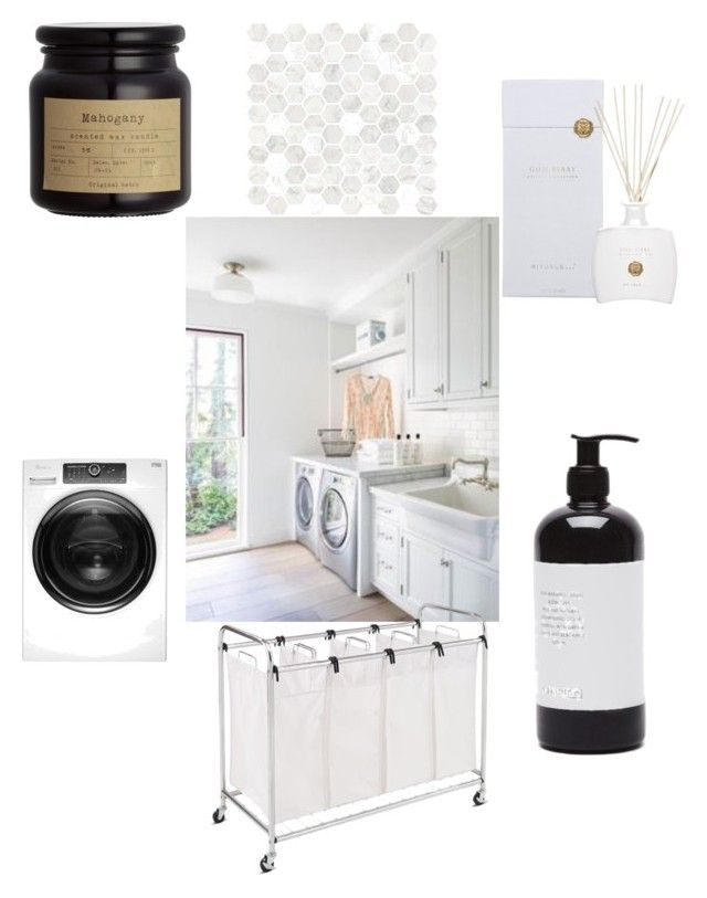 Laundry room by majkenmatilda on Polyvore featuring polyvore, interior, interiors, interior design, home, home decor, interior decorating, Whirlpool and Rituals