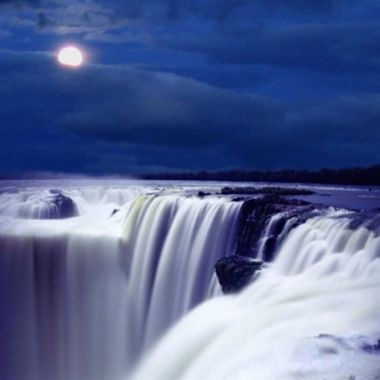 The Iguazú Falls by moonlight - Iguazú National Park - Argentina
