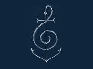 Anchor music tattoo design, would so totally just do the anchor part of this...
