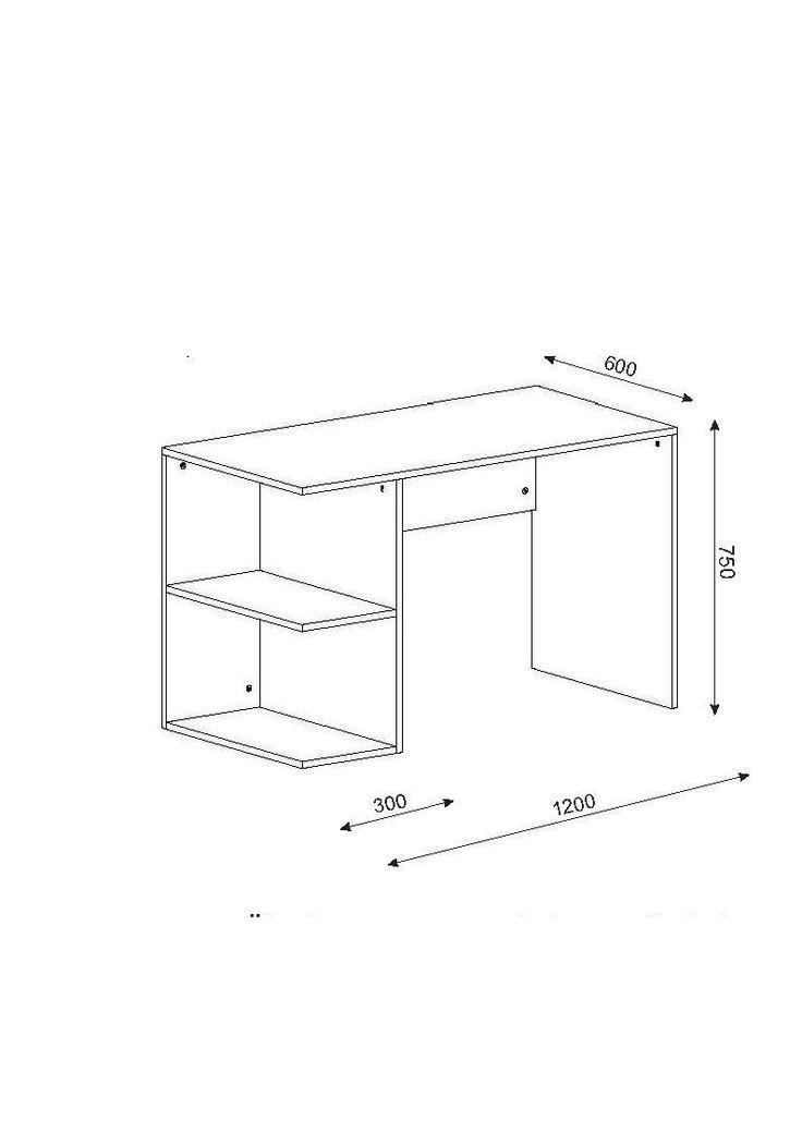 17 mejores ideas sobre escritorio moderno en pinterest for Plano escritorio melamina