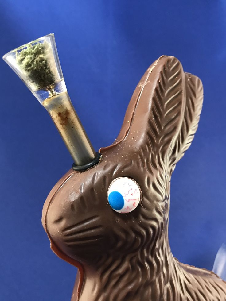 Stoner Crafts DIY Chocolate Easter Bunny Bong by Chronic Crafter