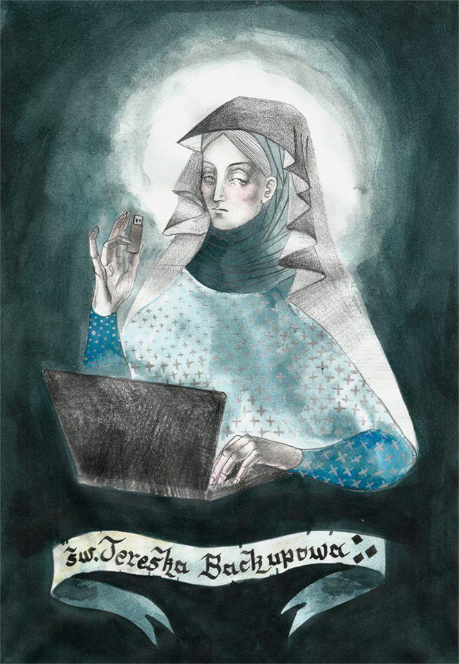 Saint Teresa of Backupping Your Coputer Data.