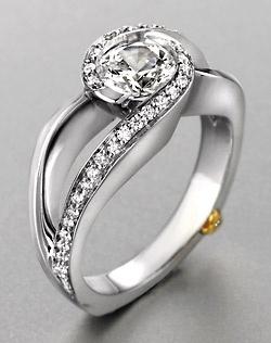 White Gold Mark Schneider Design Engagment ring