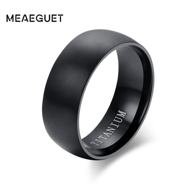 Titanium Ring with Matte Finish