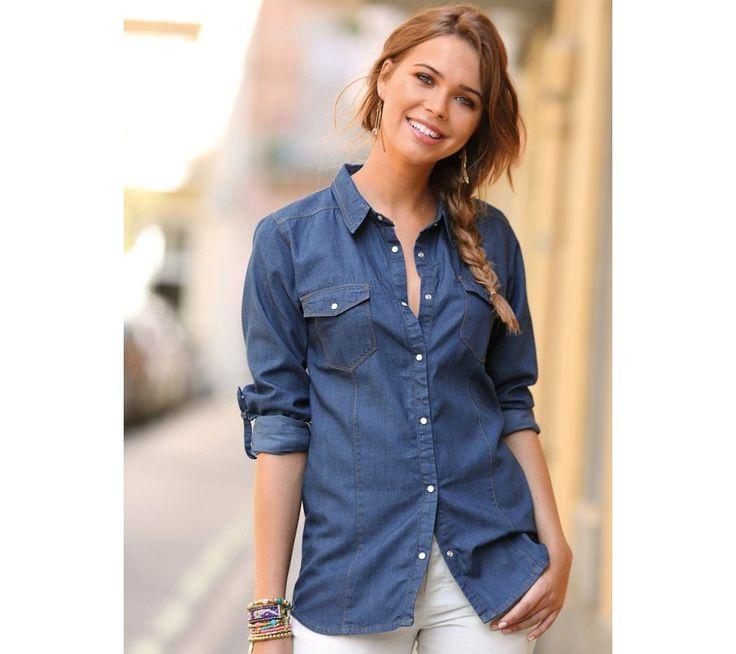 Džínsová košeľa s dlhými rukávmi | modino.sk #ModinoSK #modino_sk #modino_style #style #fashion #bluzka #tunika #kosela