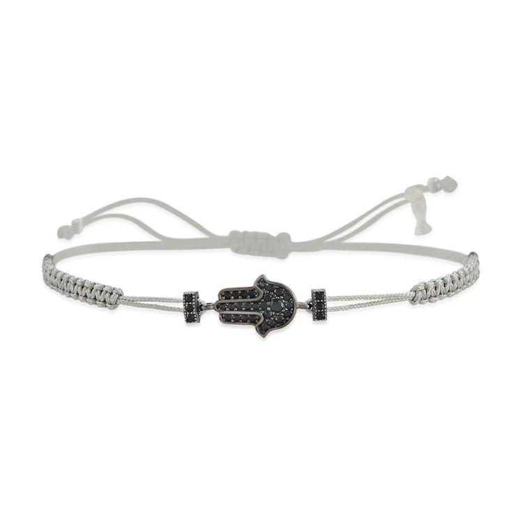 Hasma Bracelet with Natural black spinel stones