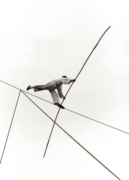 chagalov: Izis Bidermanas, Tightrope walker, Lagny 1959 via l'express