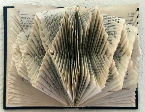 Folded Paper Book Art