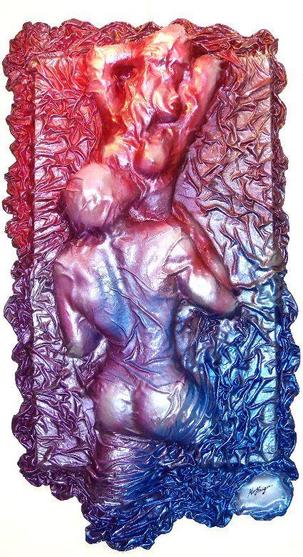 Sob Lençóis - Artista Hugo Krüger -  Baixo relevo em Fibra de vidro e resina poliéster