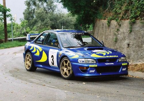 Subaru Impreza WRC rally car