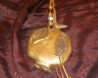 Greek traditions Terracotta Good Luck Ceramic Pomegranate Christmas Greek charm lucky fruit talisman