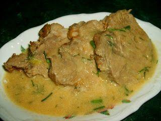 W Mojej Kuchni Lubię..: mięsko  z shoarmą w sosie cebulowym...