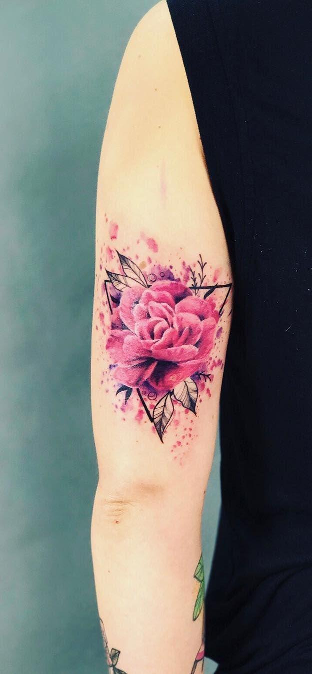 3e9b4e650 Watercolor Tattoos Will Turn Your Body into a Living Canvas   Tattoos    Tattoos, Watercolor Tattoo, Peonies tattoo