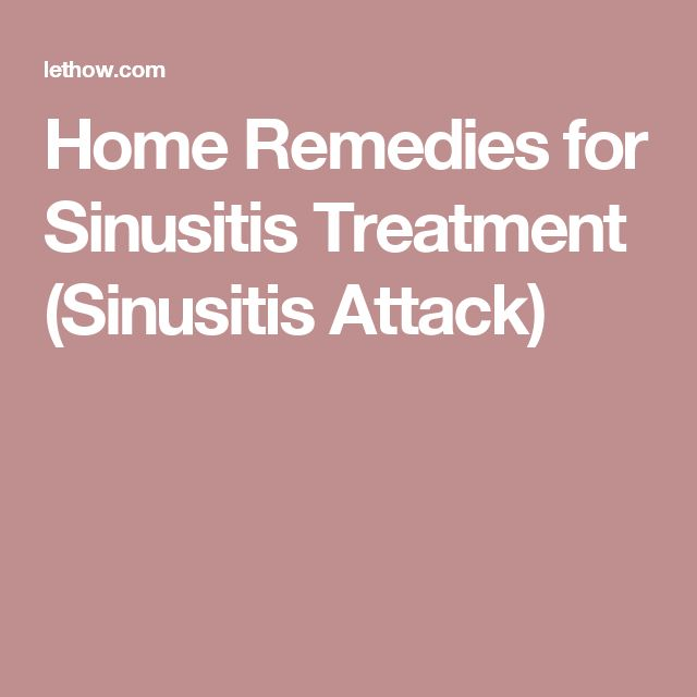 How To Get Rid Of Chronic Sinusitis Naturally