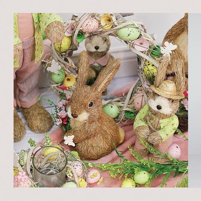Bunnies out of hiding 🌸🐰🌸 Easter decorations available in-store. #LoveCarraigDonn