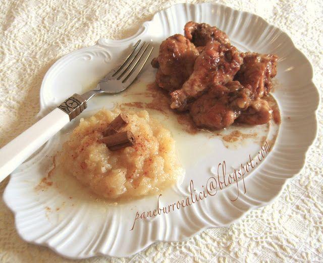 Pollo alla cannella con purè di mele