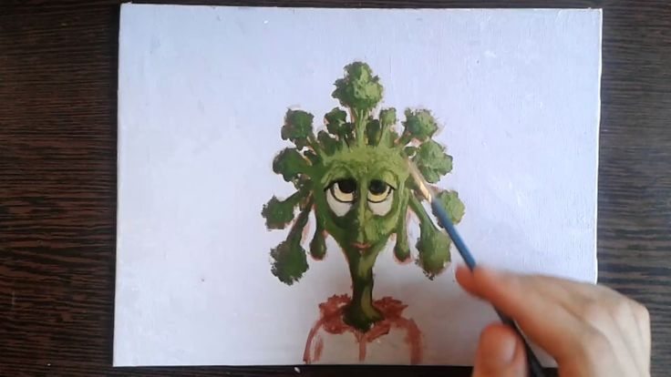 Broccoli Man Timelapse Painting  For those of you who didn't skip broccoli when you were kids, I made a painting.  It's still available in the shop at 80% discount:  https://www.etsy.com/shop/RoomEnrichment  Thank you for all your support!