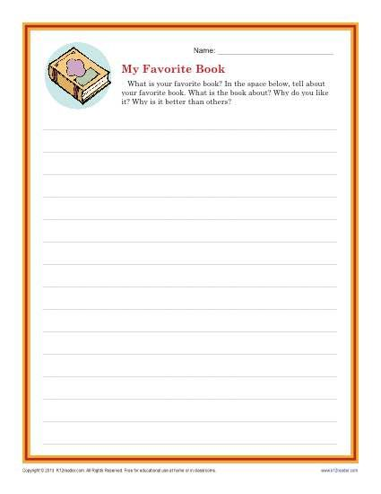 Descriptive Writing Prompt 1st grade writing prompts